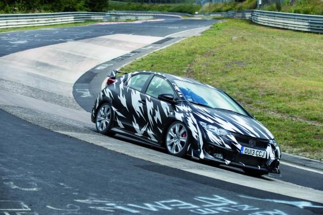 2015 Honda Civic Type R prototype Nurburgring-2