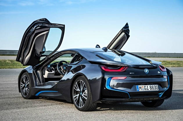 BMW i8 production car-rear