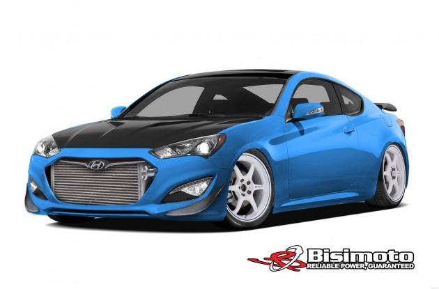 Bisimoto Hyundai Genesis 2013 SEMA car