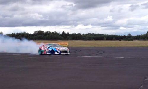 Jakub Przygonski drifts 2JZ Toyota 86 at 217km/h; world record