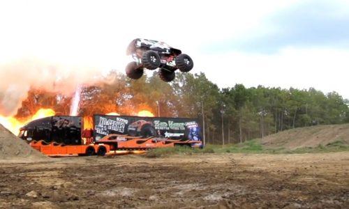 Video: 'Bad Habit' breaks monster truck jump world record