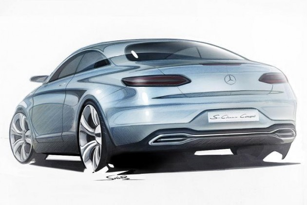 Mercedes-Benz S-Class Coupe sketch-rear