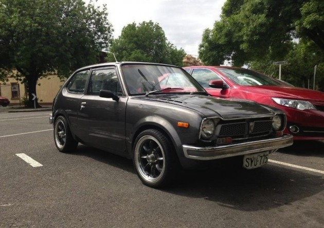 1975 Honda Civic with PGM-F1 turbo