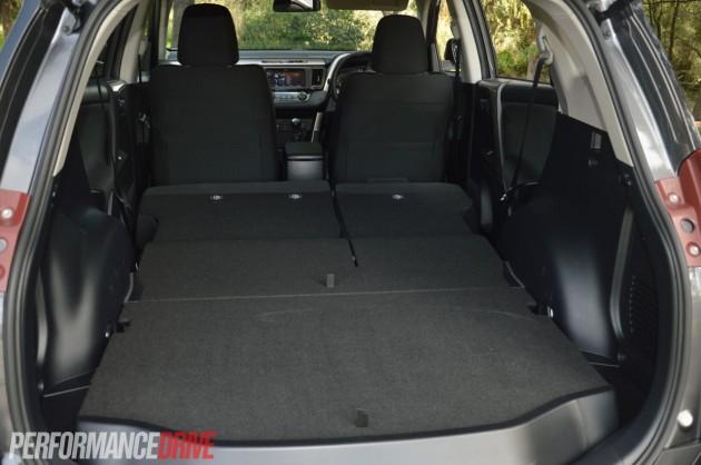 2013 Toyota RAV4 GXL folded seats