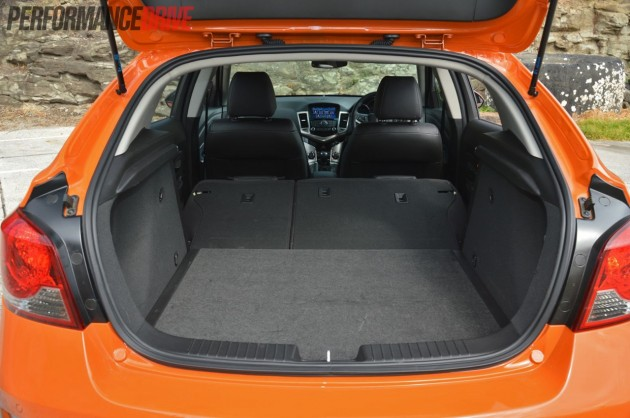 2014 Holden Cruze SRi-V folded seats