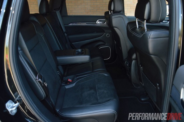 2014 Jeep Grand Cherokee SRT rear seats