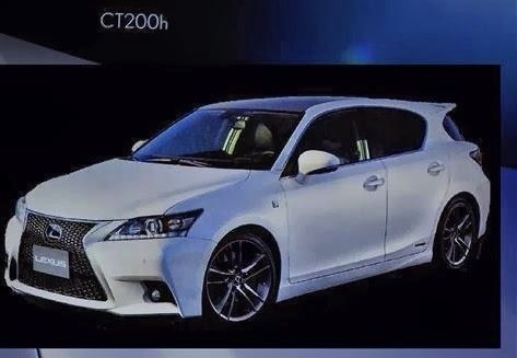 2014 Lexus CT 200h F Sport brochure scan
