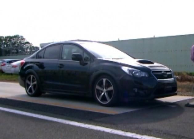 2015 Subaru WRX pre-production vehicle