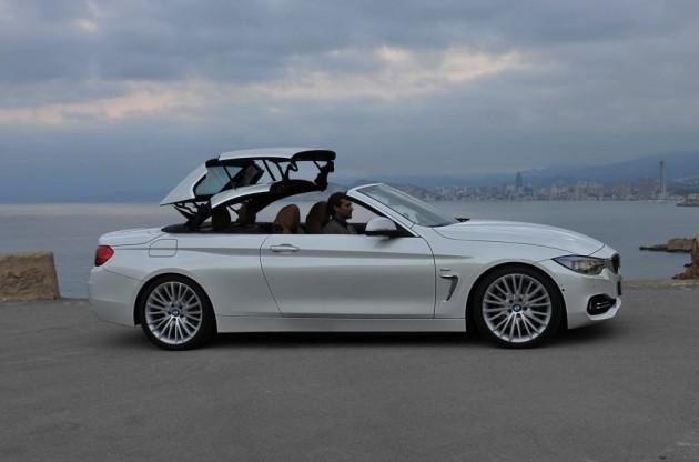 BMW 4 Series Convertible hardtop mechanism