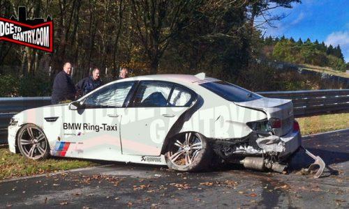 BMW M5 Ring-Taxi involved in high-speed crash at Nurburgring
