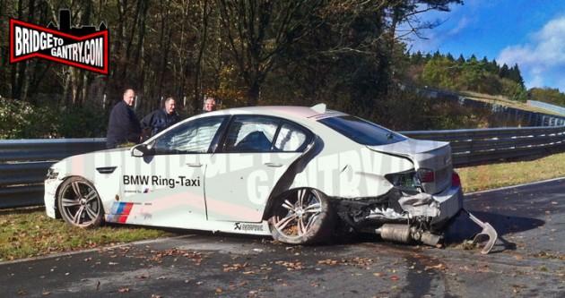 BMW M5 Ring-Taxi crash-2013