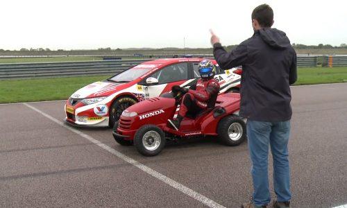 Honda Mean Mower vs Honda Civic BTCC racing car
