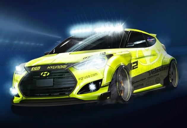 Hyundai Veloster Turbo Yellowcake-2013 SEMA