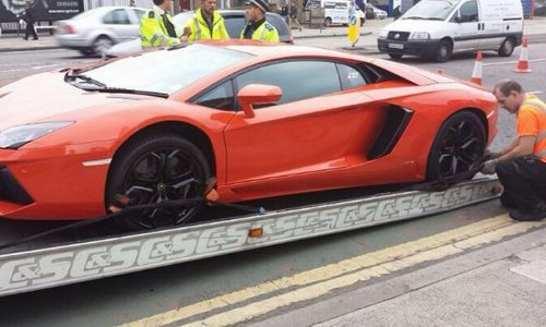 Lamborghini Aventador seized in London for being uninsured