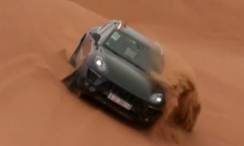 Porsche Macan prototypes rip up the sands of Dubai