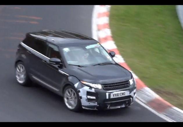 Range Rover Evoque RS prototype-Nurburgring