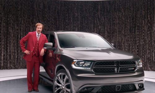 Ron Burgundy does funny ads for the Dodge Durango