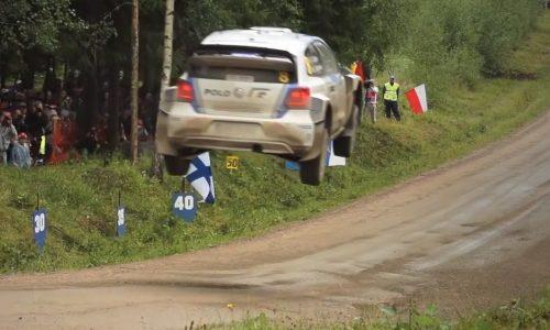 VW Polo WRC in slow motion looks as graceful as ballet