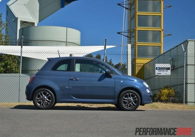 2013 Fiat 500 Sport side