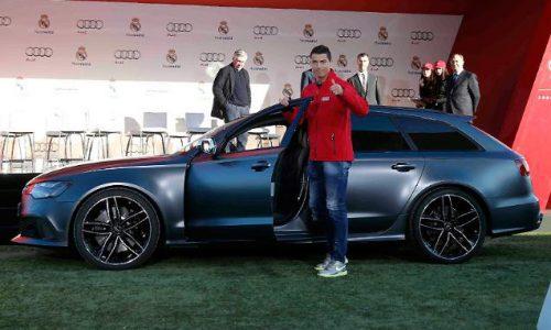 Audi gives Real Madrid football team a new car, each