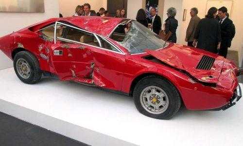 Crashed Ferrari Dino is work of art, worth US$250,000