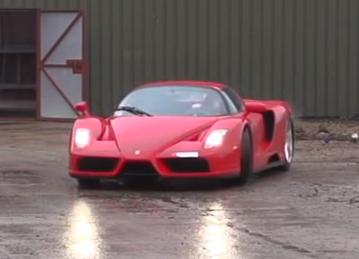 Ferrari Enzo drifting in super slow-motion
