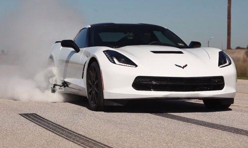 Hennessey 2014 Chevrolet Corvette HPE500 burnout test