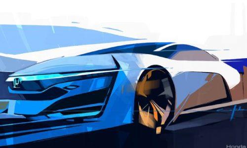 Honda FCEV Concept sketch released ahead LA debut