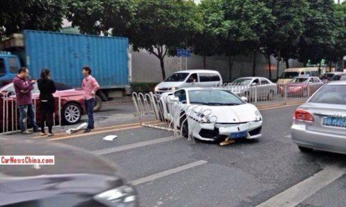 Lamborghini Gallardo Balboni edition crashed in China