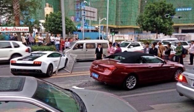 Lamborghini Gallardo LP550-2 Balboni-crash in China