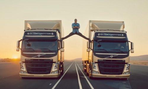 Van Damme performs 'epic split' in latest Volvo Trucks ad