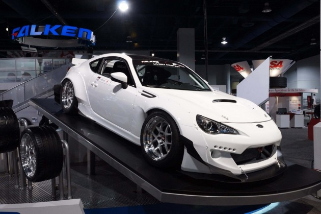 widebody Toyota 86 white-2013 SEMA