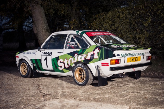 1972 Ford Escort Mk2 RS1800 rally car-McRae-rear