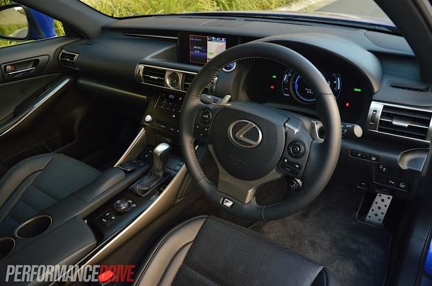 2013 Lexus IS 300h F Sport interior