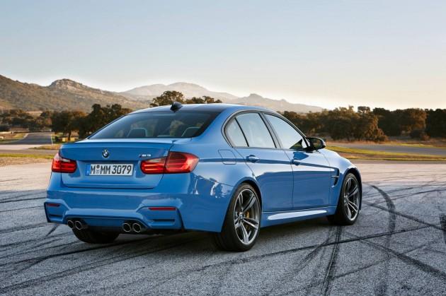 2014 BMW M3 sedan-rear