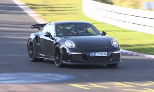 Video: 2014 Porsche 911 GT2 spied on the Nurburgring