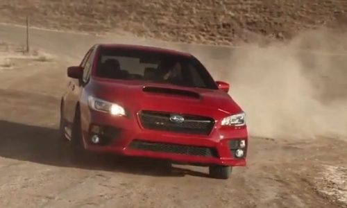 2015 Subaru WRX goes for a rally in the dirt