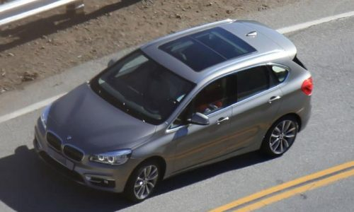 BMW 2 Series Active Tourer spotted undisguised