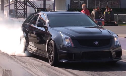 Cadillac CTS-V Sport Wagon does a 10-second pass