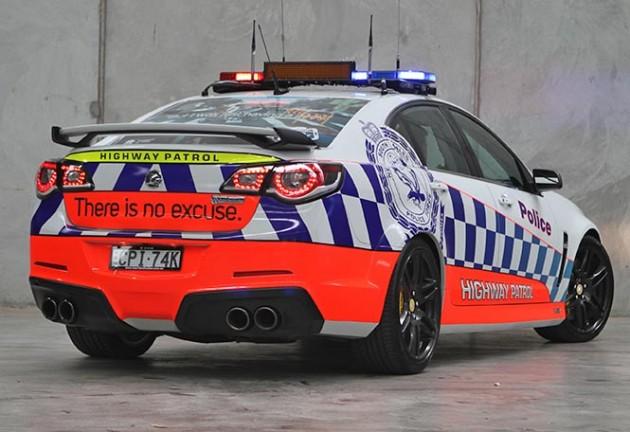 HSV Gen-F GTS police car-rear