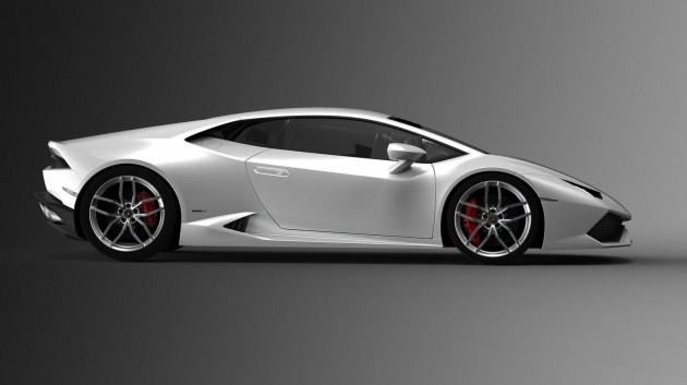 Lamborghini Huracan LP 610-4 white-side