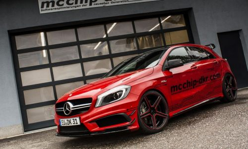 mcchip gives the Mercedes-Benz A 45 AMG V8-like grunt