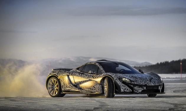 McLaren P1 prototype ice testing