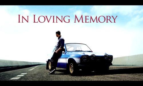 Paul Walker tribute by Fast & Furious
