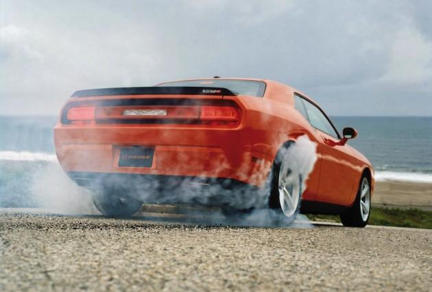 2012 Dodge Challenger SRT-burnout