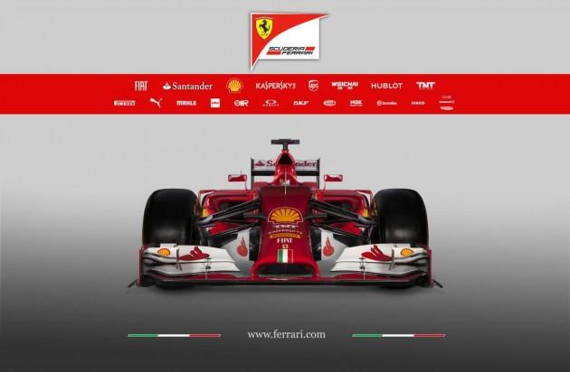 2014 Ferrari F14-T F1 car-front