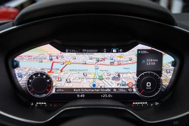 2015 Audi TT TFT instrument cluster