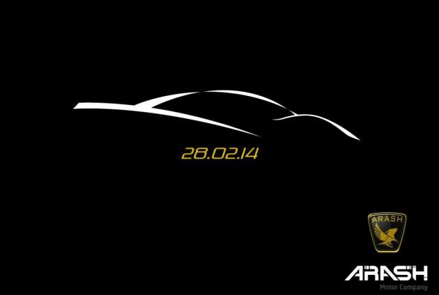 Arash Cars supercar teaser