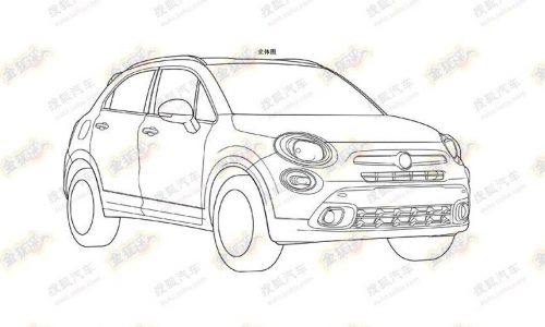 Fiat 500X patent images preview new compact SUV