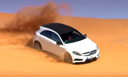 Mercedes-Benz A 45 AMG ripping up sand dunes